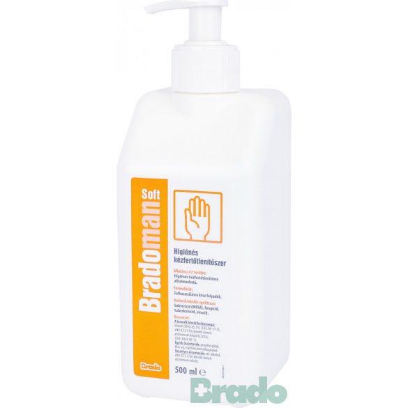 Bradoman soft higiénés kézfertőtlenítőszer 500ml pumpás